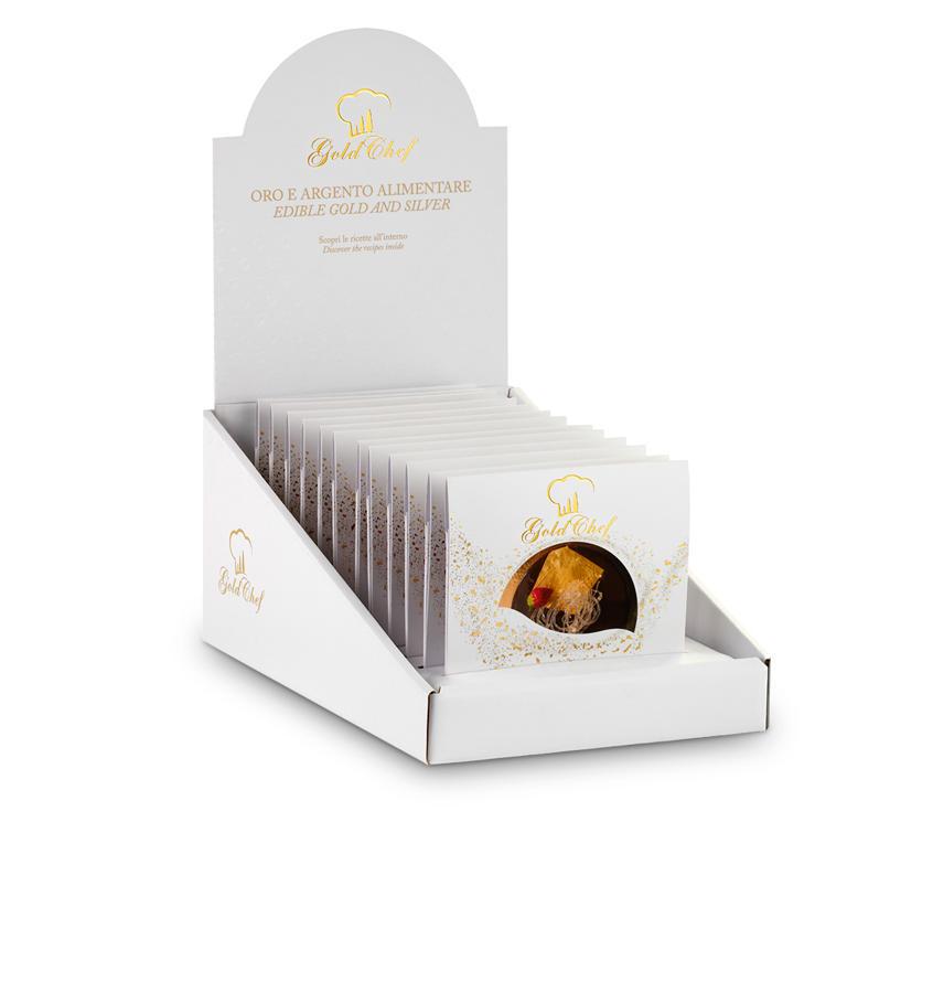 Foglia oro Espositore Foglia Oro 80 x 80 mm 5 foglie