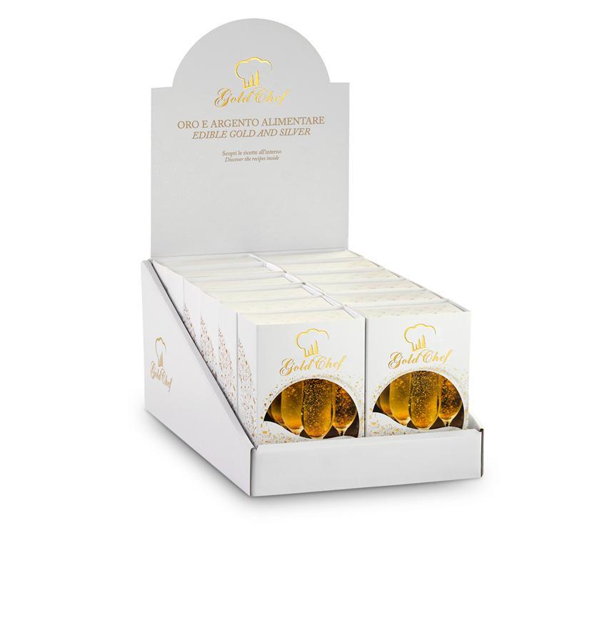 Gold Powder 125 mg Gold Powder Display