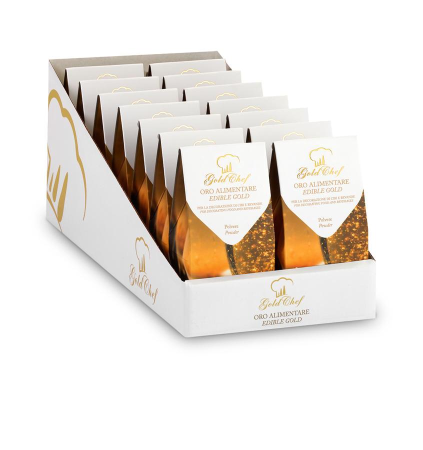 Gold Powder 70 mg Gold Powder Display