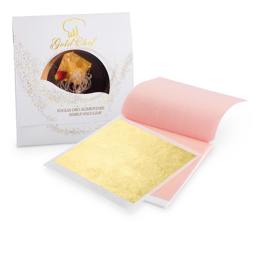 Foglia oro Foglia Oro 80 x 80 mm 25 foglie